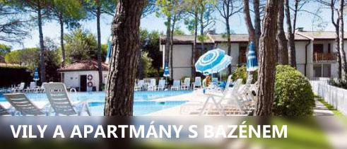 Bibione apartmány s bazénem